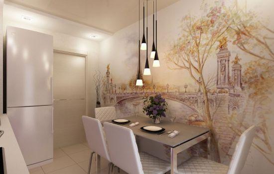 отделка стен кухни обоями какие обои подойдут для кухни салон