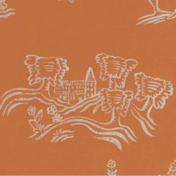 Обои Andrew Martin The Kit Kemp Collection,, арт. Wychwood-Melon Orange