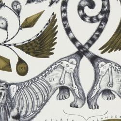 Обои Clarke & Clarke Animalia, арт. W0100-02