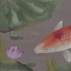 Обои Fromental Modern Chinois, арт. Carp and Moon-Honshu