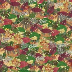 Обои ID Wall Ботаника, арт. ID-048033 Crazy leaves