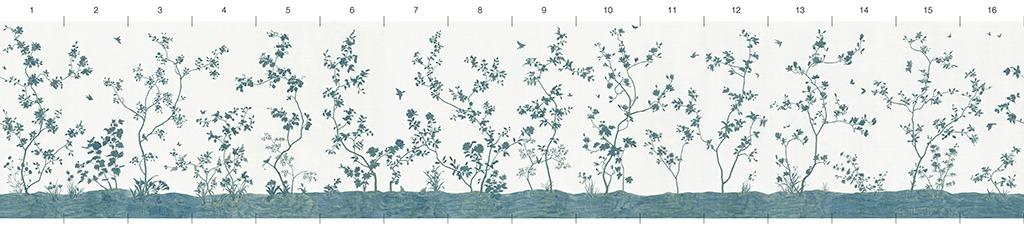 Обои Melange Series Шелковые панно на бумаге, арт. C-06-16-N
