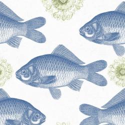 Обои MINDTHEGAP MINDTHEGAP, арт. WP20009 - Fish Blue