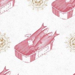 Обои MINDTHEGAP MINDTHEGAP, арт. WP20011 - Sardines Red