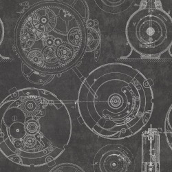 Обои MINDTHEGAP MINDTHEGAP, арт. WP20043 - Horlogerie Anthracite
