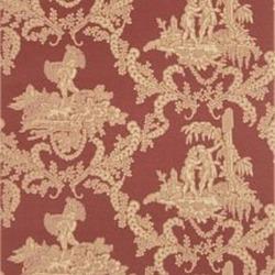 Обои Stroheim Charles Faudree Wallcovering, арт. Hamlet's Toile Red