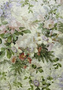 Обои Zuber Roses Anciennes, арт. 1308